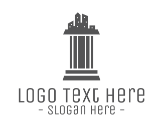 Lawyer - Grey Pillar City logo design