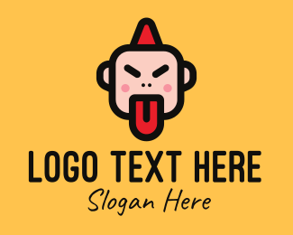 Youngster - Angry Kid Mascot logo design