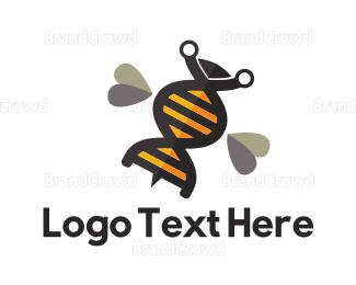 Gene - Genetic Bee logo design