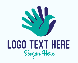 Silhouette - Silhouette Hand Swan logo design