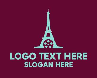 Movie - Paris Eiffel Tower Films logo design