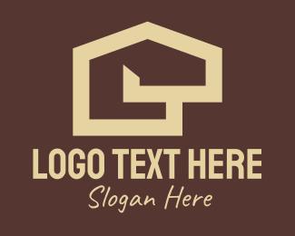 House - Beige Home Realtor logo design