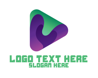 Eggplant - Abstract Youtube Vlog logo design