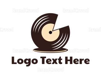 Chocolate - Choco Record logo design