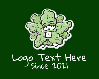 Cartoon - Cartoon Romaine Lettuce logo design