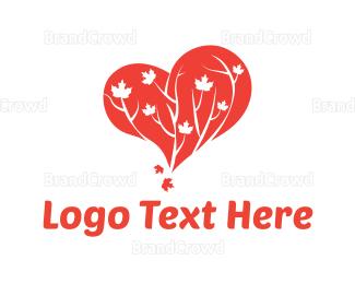 Botanical - Tree Heart logo design
