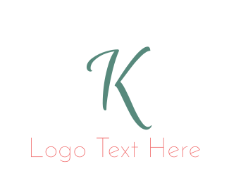Fashion Label - Elegant Turquoise Letter K logo design