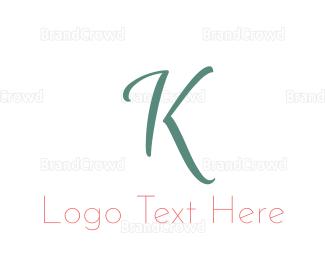 Letter K - Elegant Turquoise Letter K logo design