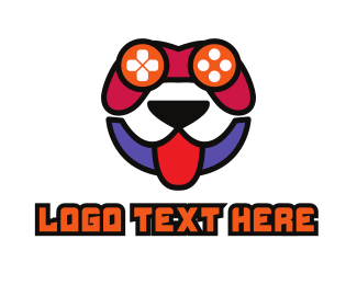 Gaming Console - Happy Dog Gamer logo design
