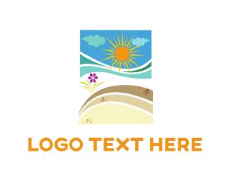 Island - Beach Sunshine logo design