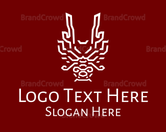 China - Chinese  Stroke Dragon logo design