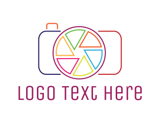 Digicam - Minimalist Camera Outline logo design