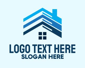 Rental - Blue Housing Rental logo design