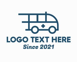 Ladder - Fast Red Ambulance logo design