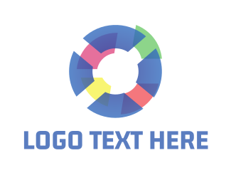 Custom - Tech Pastel Circle logo design