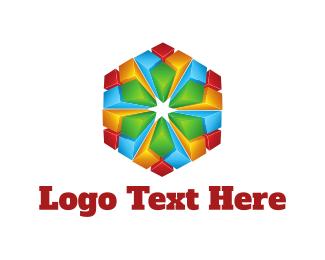 Psychedelic - Crystal Flower logo design