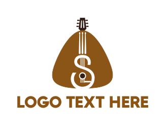 Instrumental - Guitar Strings logo design