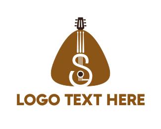 Acoustic - Guitar Strings logo design