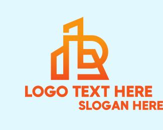 Real Estate - Orange Realty Letter R  logo design