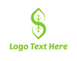 Salad - Letter S Leaf logo design