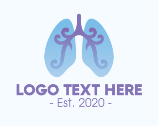Emphysema - Respiratory Lung Organ logo design