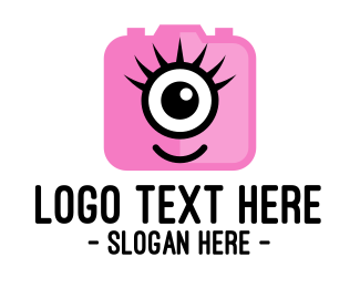 Cyclops - Pink Monster Photography logo design