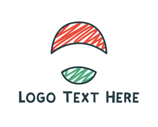 Ball - Round Flag logo design