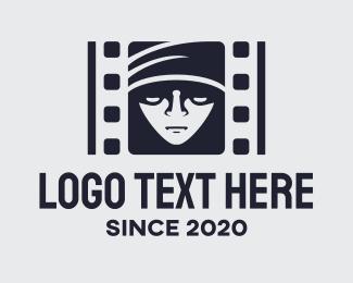 Directing - Black Mystery Film logo design