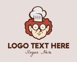 Home Cook - Grandma Chef Cook logo design