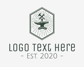 Carpentry - Anvil Tools Workshop logo design