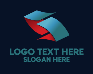 Print Shop - Origami Folds logo design