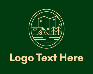 Camp Site - Minimalist Camping Site  logo design