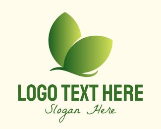 Organic Product - Organic Leaf Butterfly logo design