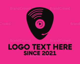 Musician - Vinyl Pick logo design
