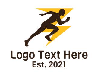 Athlete - Fast Runner Athlete logo design