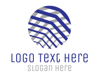 Consultancy - Textured Business  Circle logo design