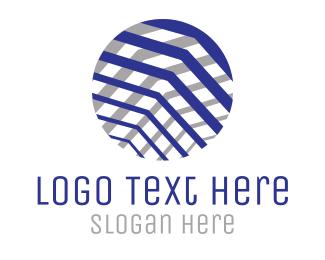 Needlework - Textured Business  Circle logo design