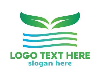 Green Leaf Wave Logo
