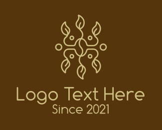 Instant Coffee - Coffee Bean Cafe Vine  logo design