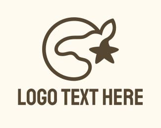 Polo - Brown Camel Star logo design