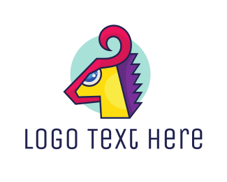 Mythical - Mythical Fantasy Pony logo design