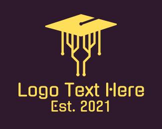 Technology - Cyber Graduation logo design