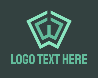 Columnist - Green Book Letter W logo design