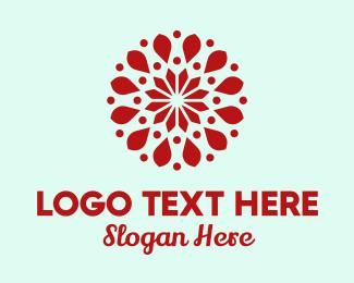 Flower Store - Flower Petal Pattern logo design