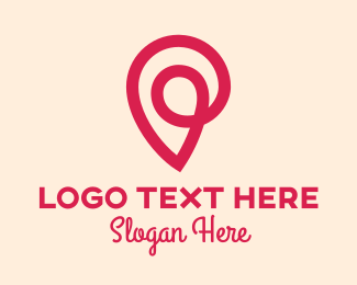 Trend - Pink Location Pin Letter P logo design
