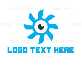 Evil Eye - Propeller Eye logo design