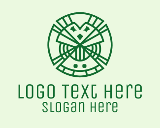 Clover - Geometric Lucky Clover  logo design