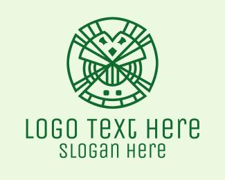 Lucky - Geometric Lucky Clover logo design