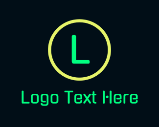 Eighties - Green Neon Signage logo design