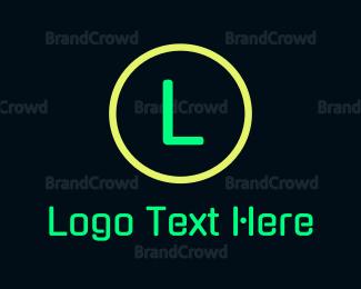 Led - Green Neon Signage logo design